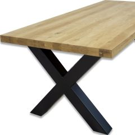 Eiken tafel 100 x 220 cm - poten naar keuze