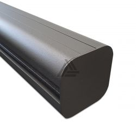 Tuinpaal Modulair Antraciet Aluminium 300x8x8 cm