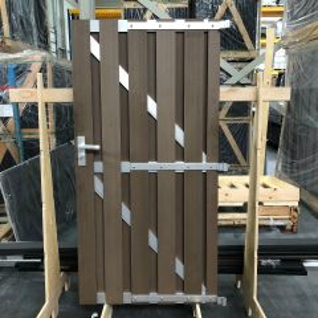 Outletpakket 2 | Design Tuindeur Bankirai Composiet 90x180 cm